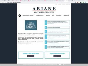 ariane contentieux references clients agence web pro