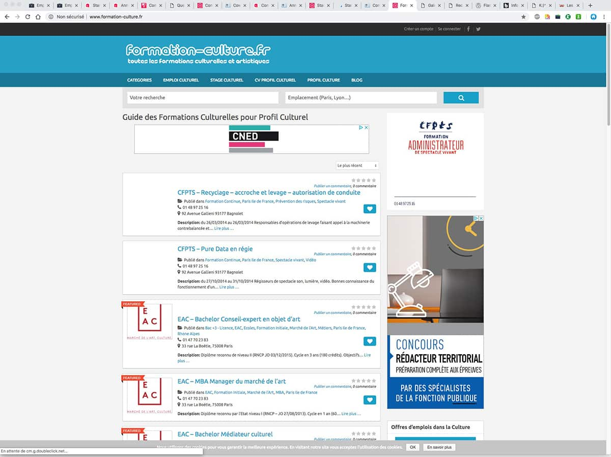 formation culture references clients agence web pro