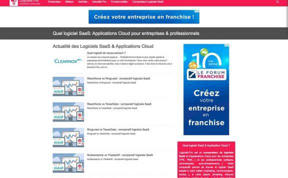 logiciels pro magazine references clients agence web pro