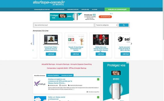 startups news references clients agence web pro
